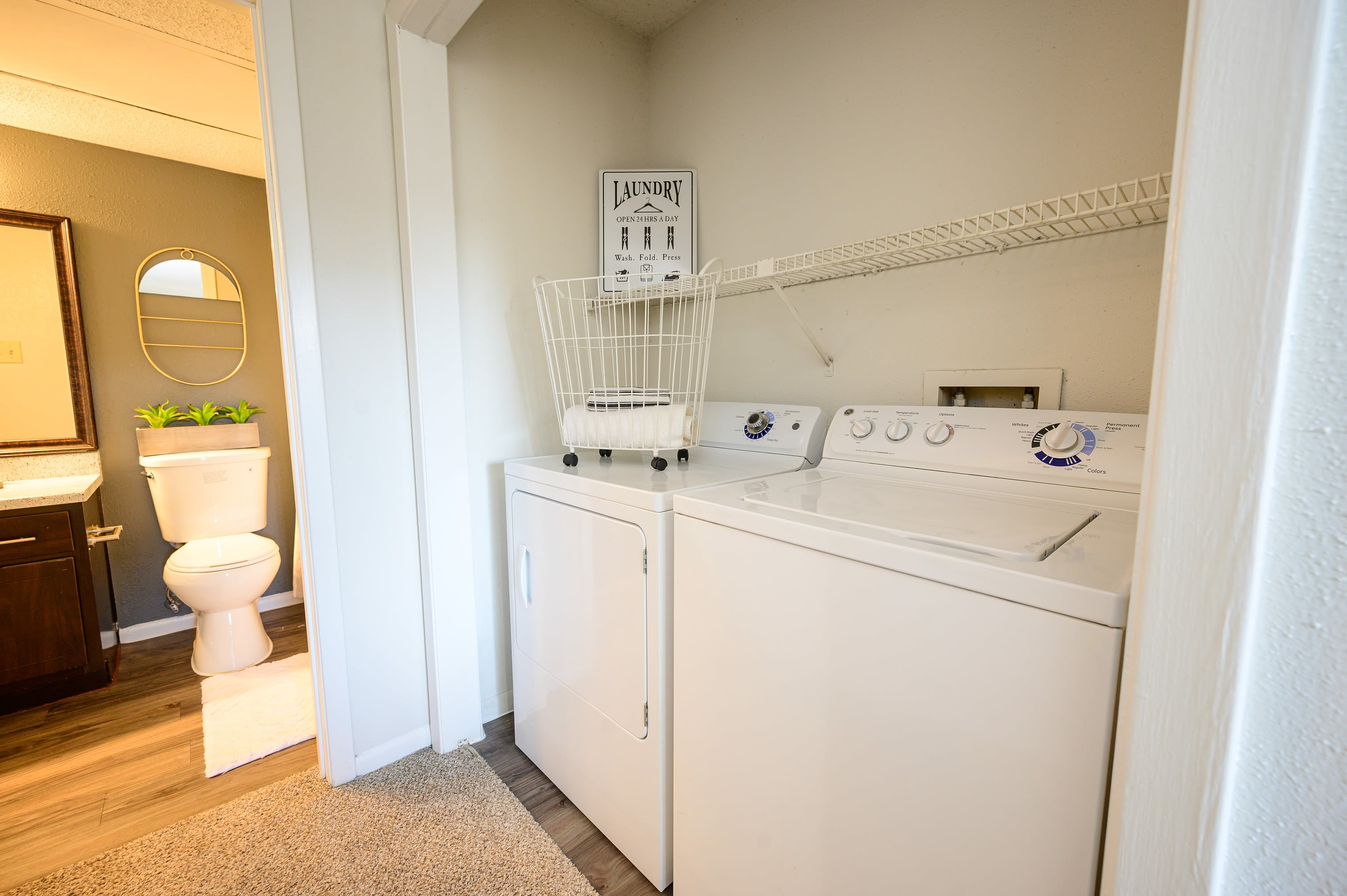 Washer and dryer included at Laurel Heights at Cityview in Fort Worth, Texas
