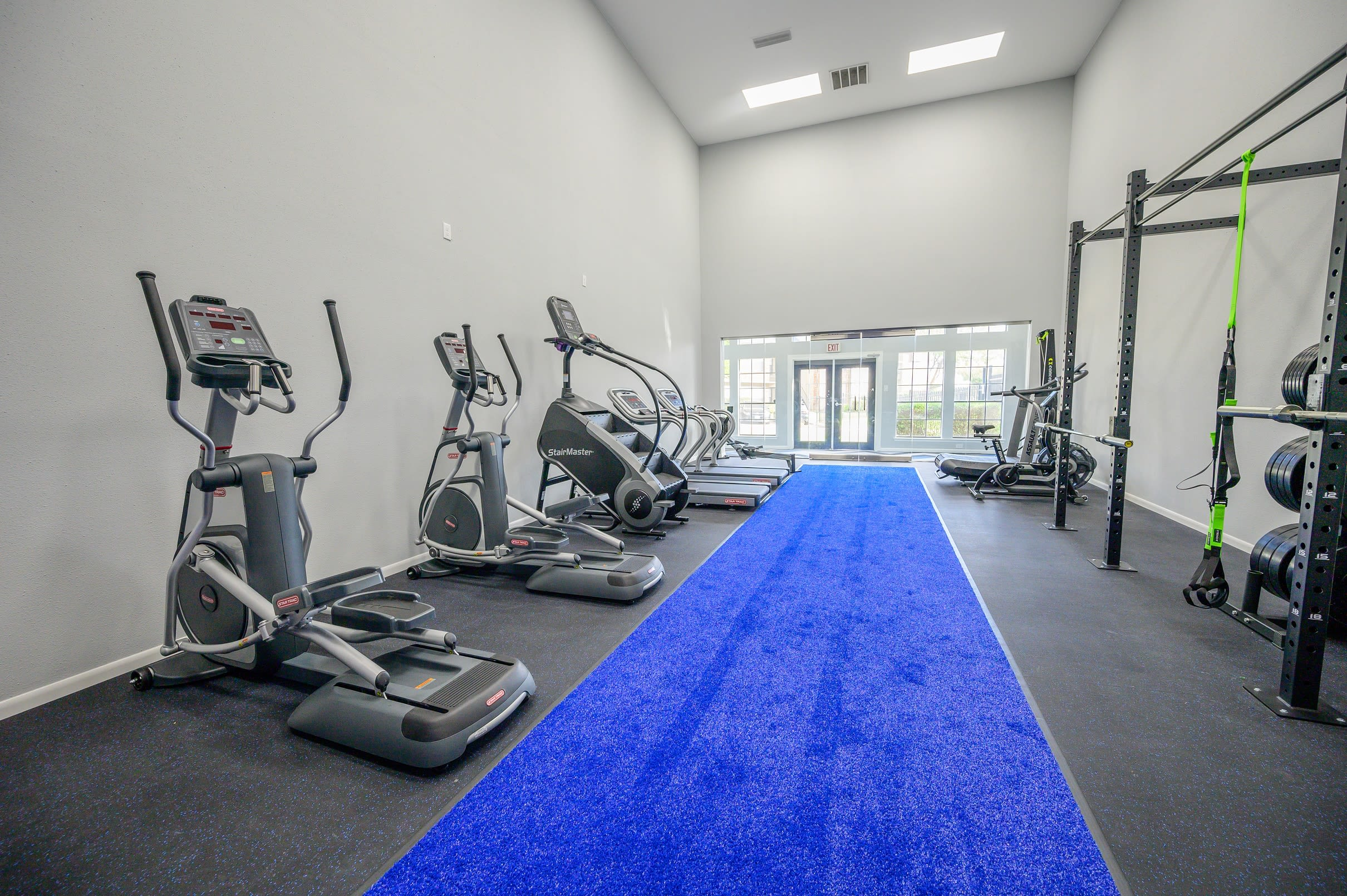 Fitness center at Laurel Heights at Cityview in Fort Worth, Texas