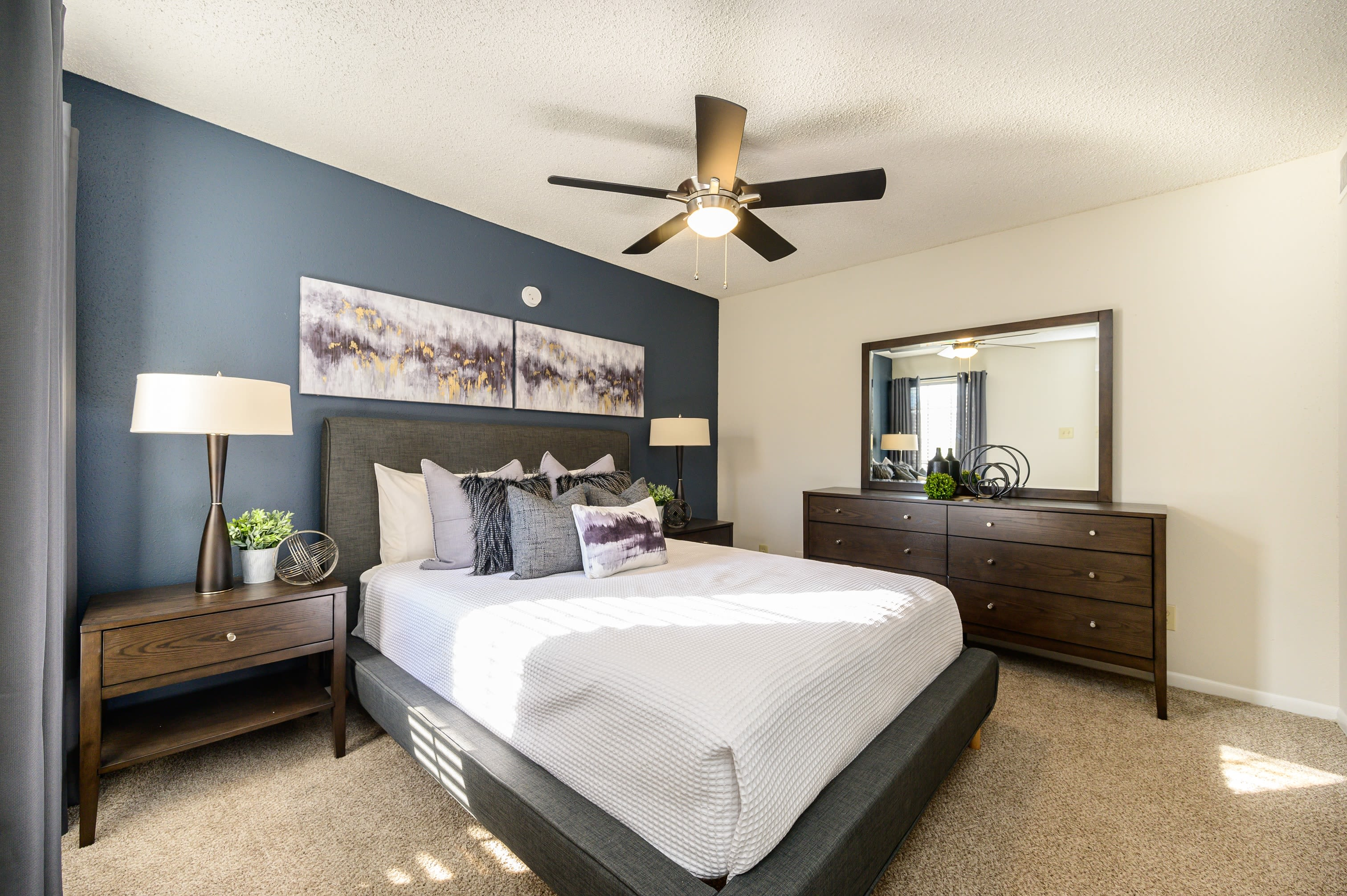 Large bedroom at Laurel Heights at Cityview in Fort Worth, Texas