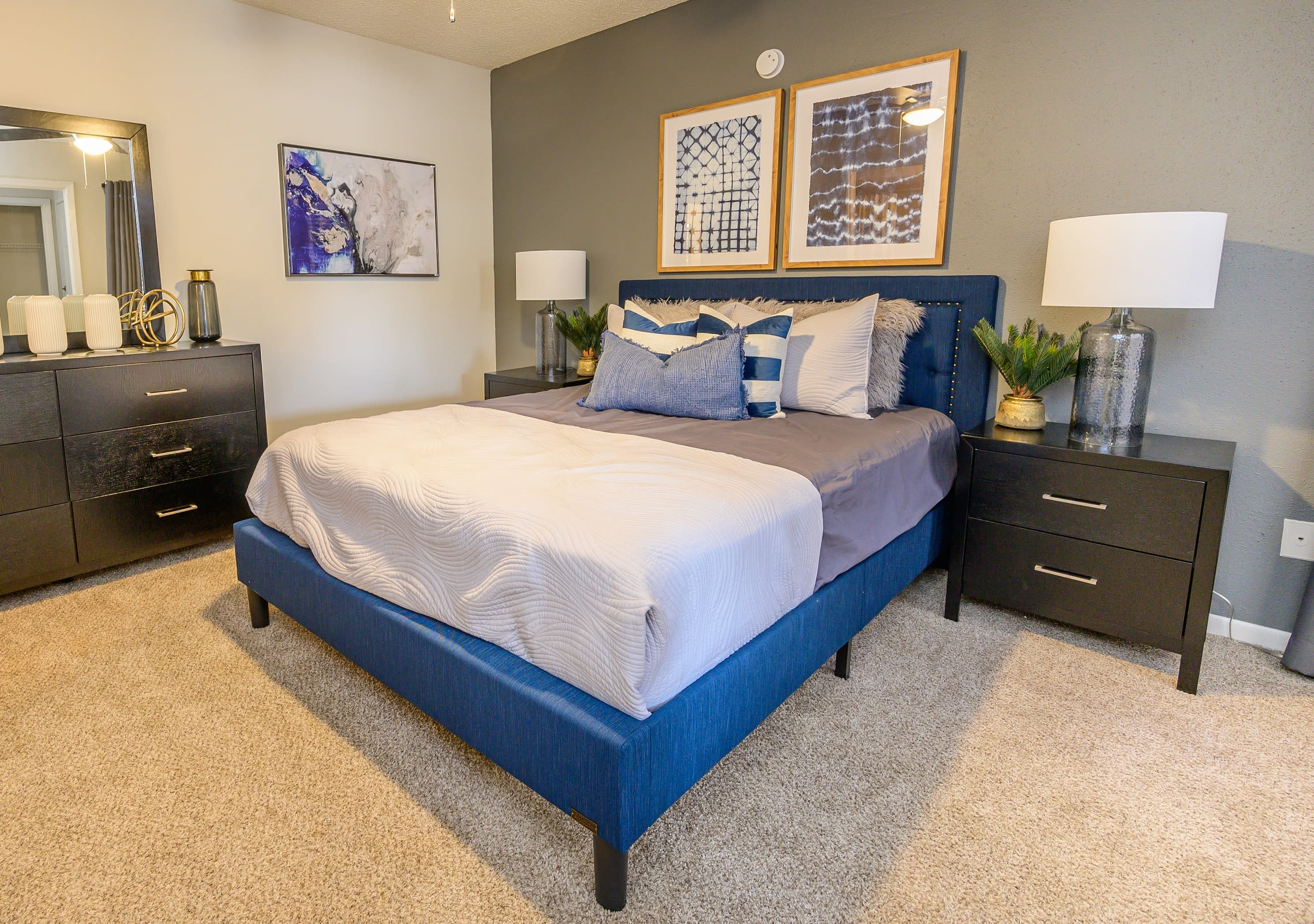 Main bedroom at Laurel Heights at Cityview in Fort Worth, Texas