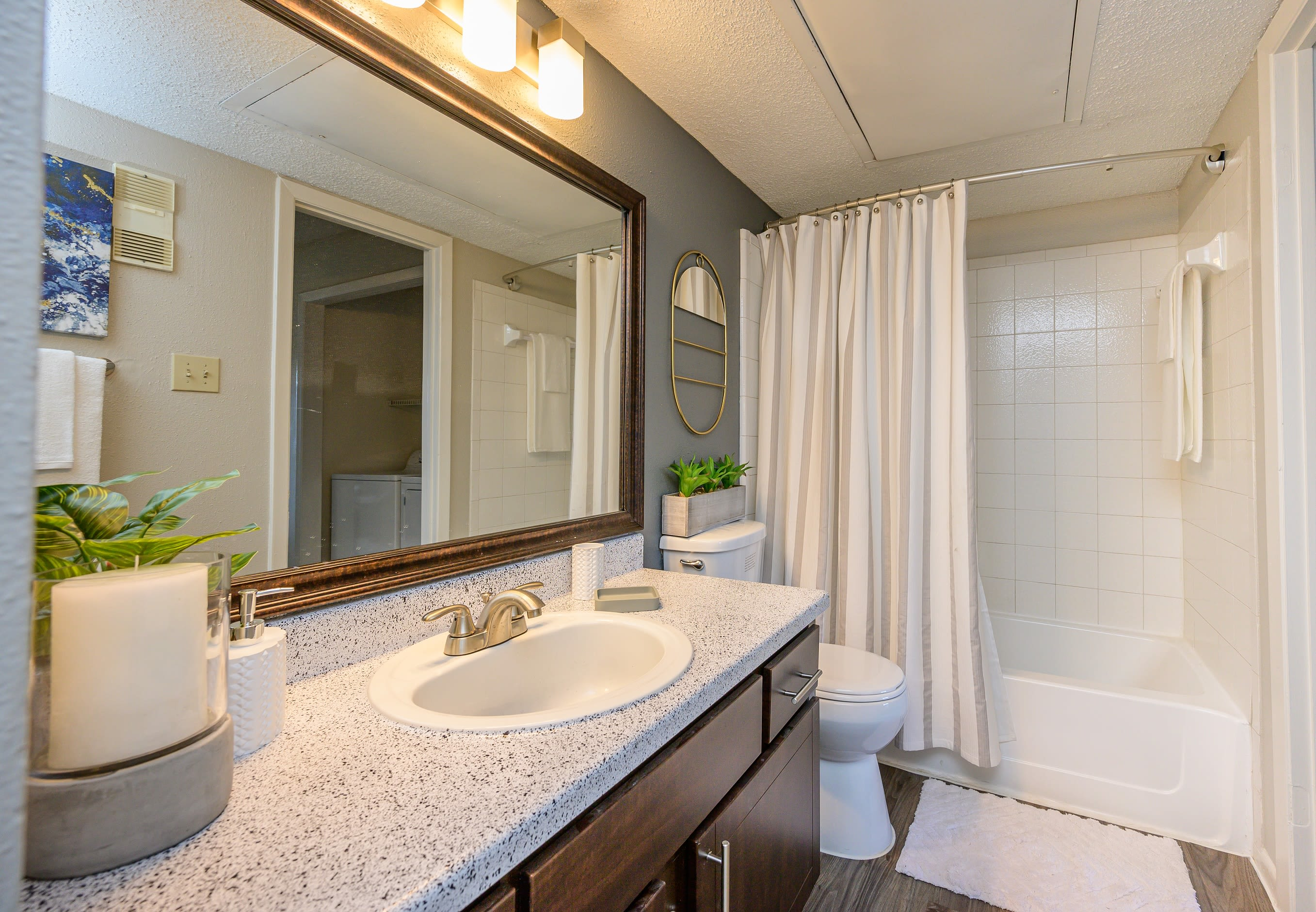 Bathroom at Laurel Heights at Cityview in Fort Worth, Texas
