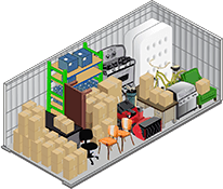 10x20 storage unit at U-Lock-It Self Storage in Vancouver, Washington