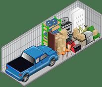 10x30 storage unit at U-Lock-It Self Storage in Vancouver, Washington