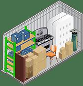 5x10 foot storage unit at U-Lock-It Self Storage in Vancouver, Washington