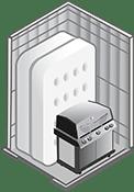 5x5 foot storage unit at U-Lock-It Self Storage in Vancouver, Washington