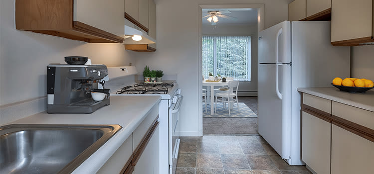 Apartments with a modern kitchen