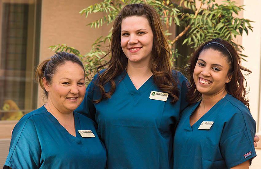 Employees at Ortega Gardens Alzheimer's Special Care Center in Jacksonville, Florida