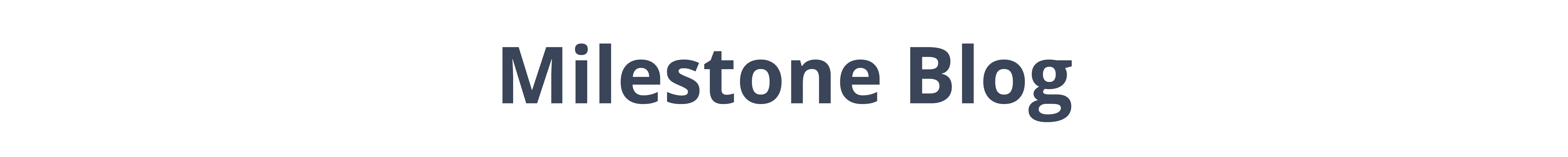 Milestone blog logo for Preston Greens in Lexington, Kentucky