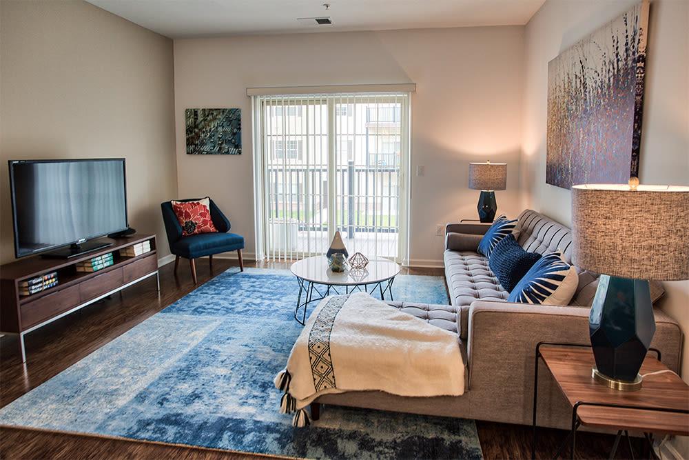 Beautiful living room at The Kane in Aliquippa, Pennsylvania