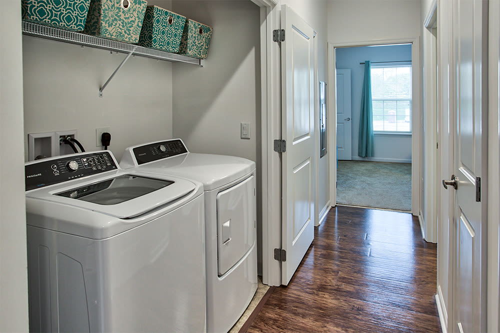 In-home washer and dryer at The Kane in Aliquippa, Pennsylvania
