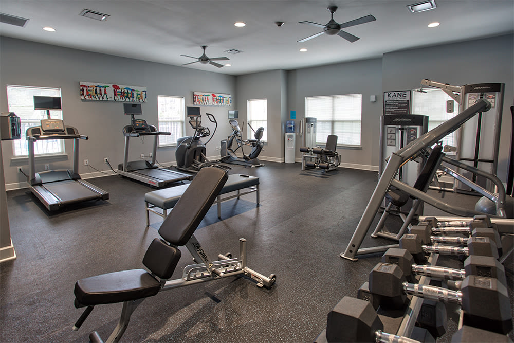State-of-the-art fitness center at The Kane in Aliquippa, Pennsylvania