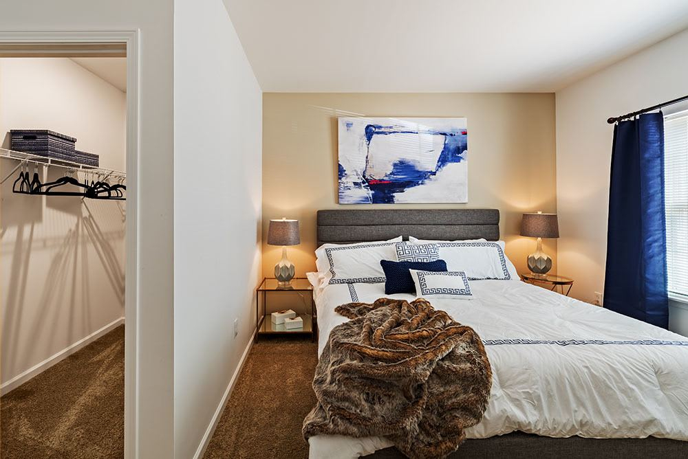 Cozy bedroom at The Kane in Aliquippa, Pennsylvania