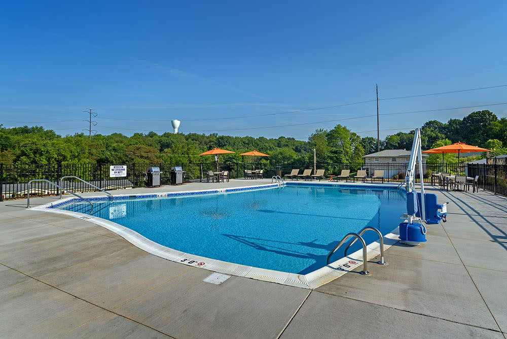 Beautiful swimming pool at The Kane in Aliquippa, Pennsylvania