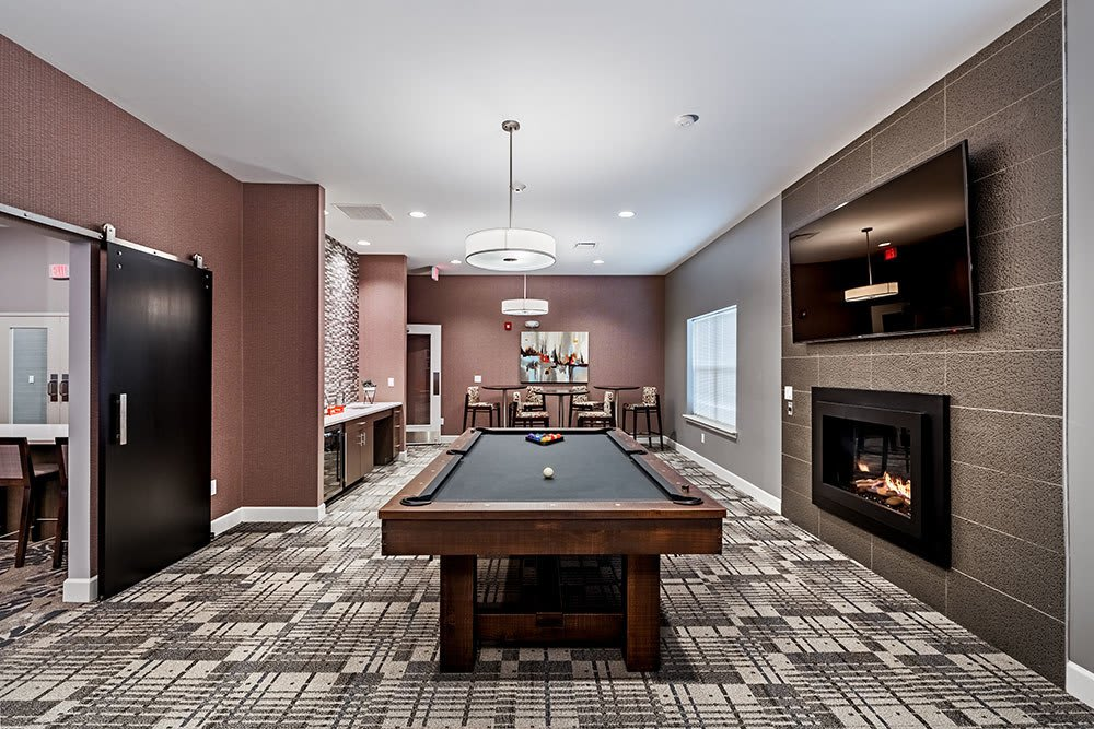 Billiards table at The Kane in Aliquippa, Pennsylvania