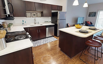 Virtual tour of a two bedroom apartment at The Kane in Aliquippa, Pennsylvania