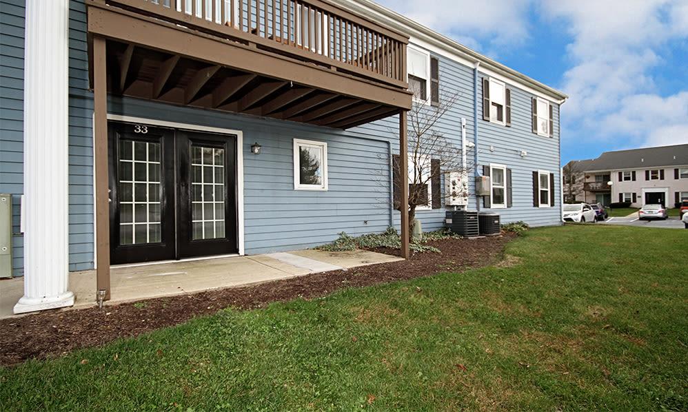 Balcony and patio area at The Village of Laurel Ridge in Harrisburg, Pennsylvania