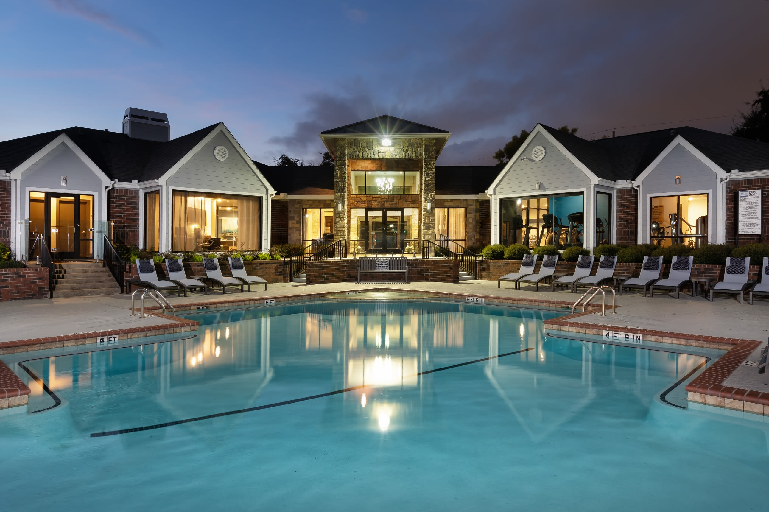 Clubhouse with outdoor pool included at Hayden at Enclave in Houston, Texas