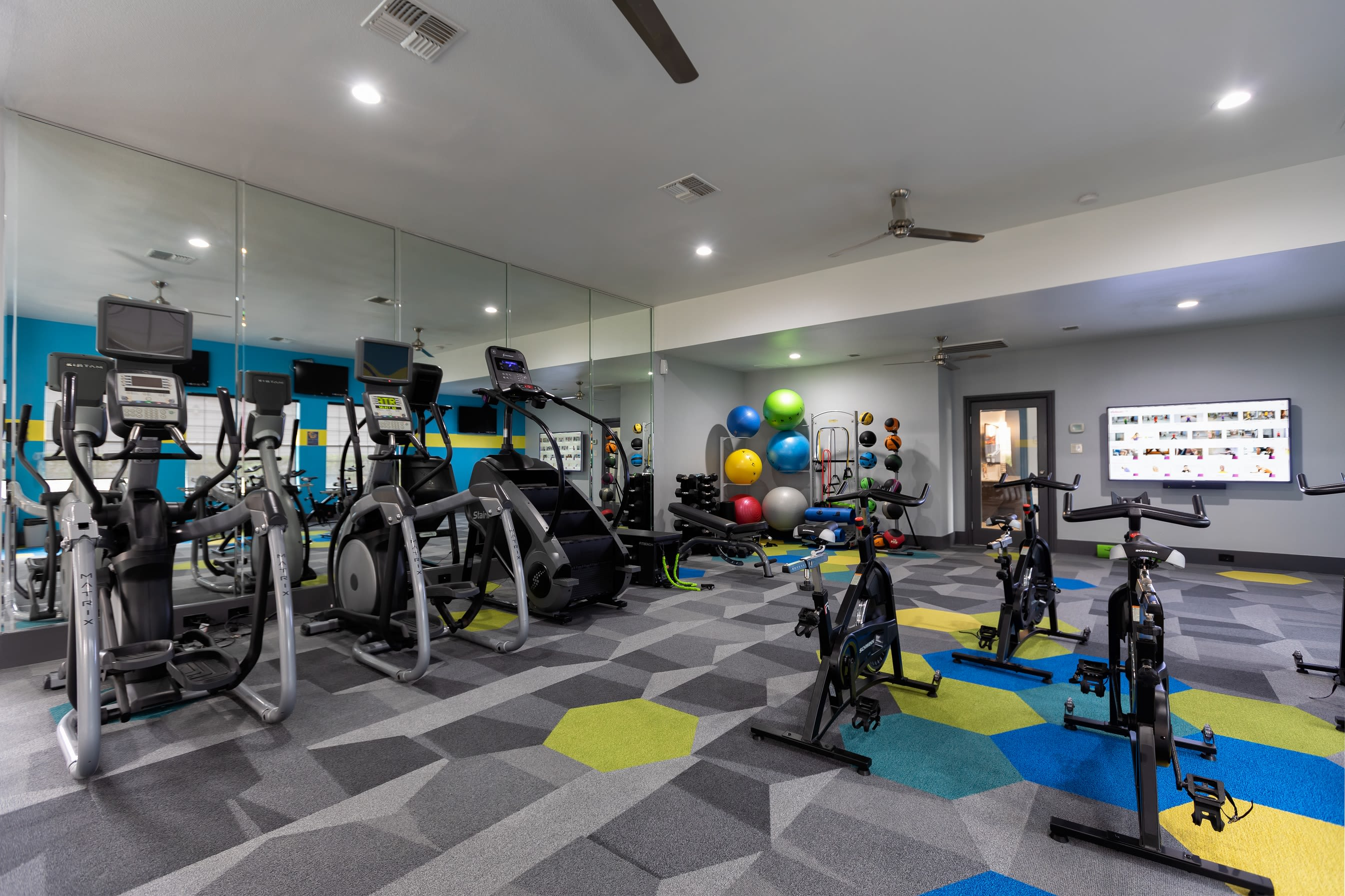 Resident fitness center at Artisan at Lake Wyndemere in The Woodlands, Texas