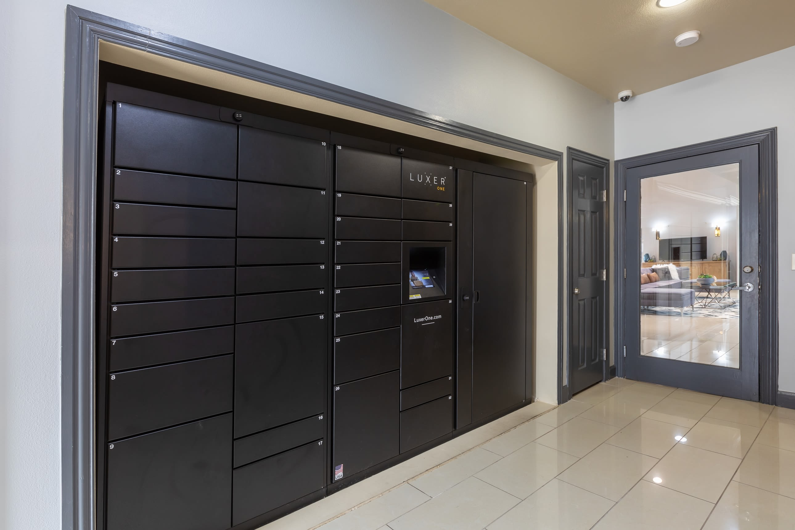 Secure safe for guests at Artisan at Lake Wyndemere in The Woodlands, Texas