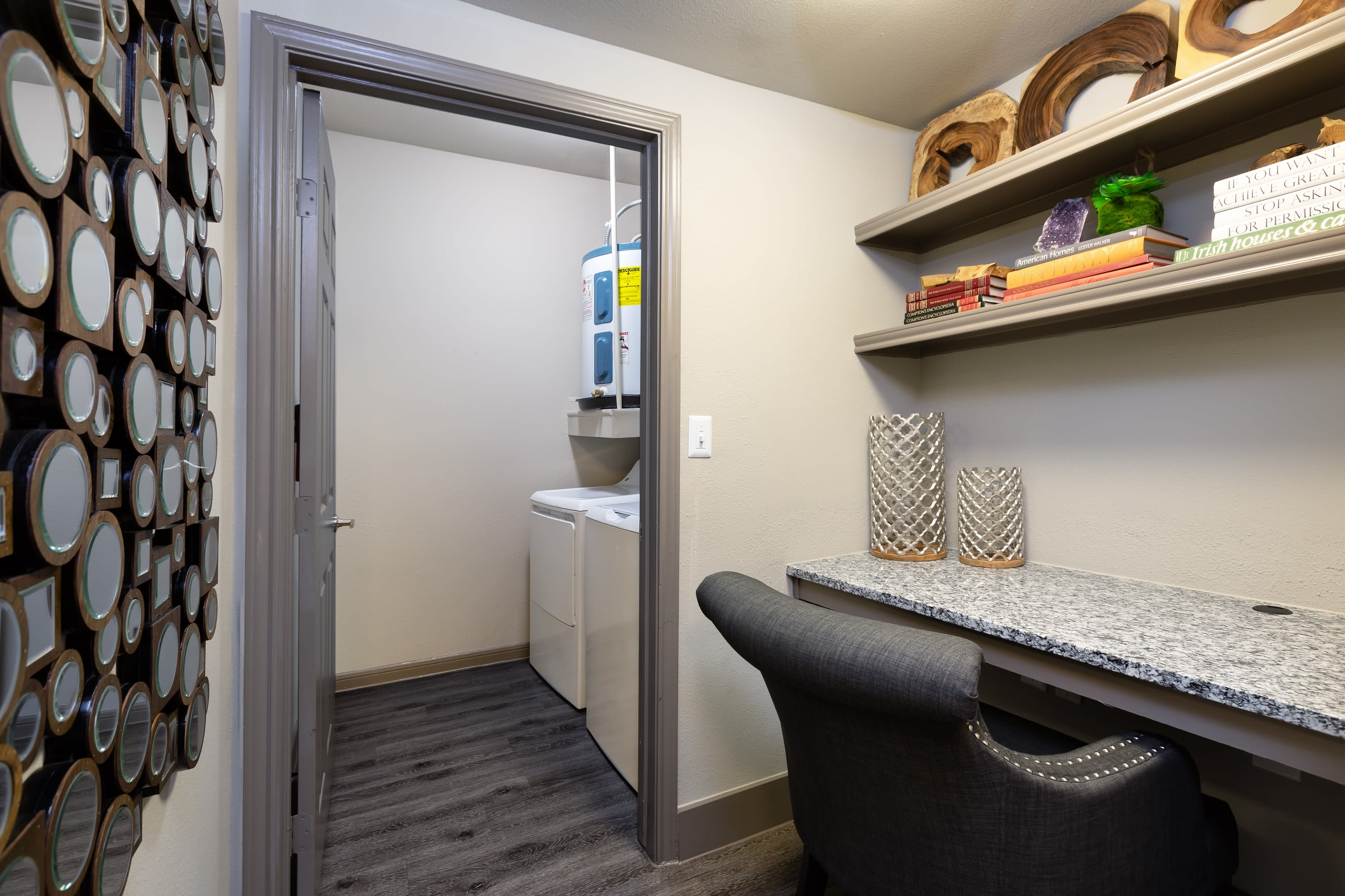 Office room and washer/dryer are included perks at Artisan at Lake Wyndemere in The Woodlands, Texas