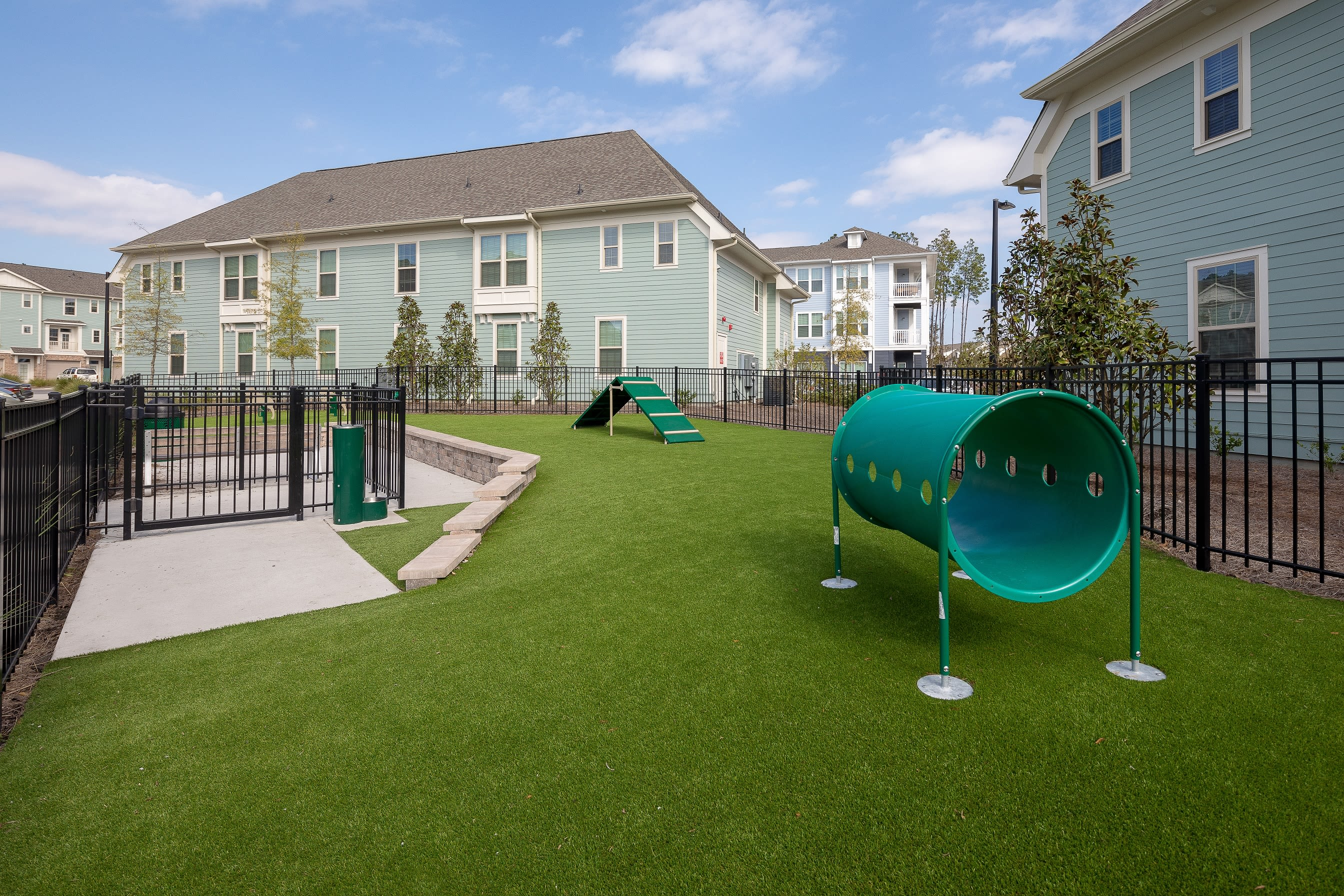 Dog park and playground at Elevate at Brighton Park in Summerville, South Carolina