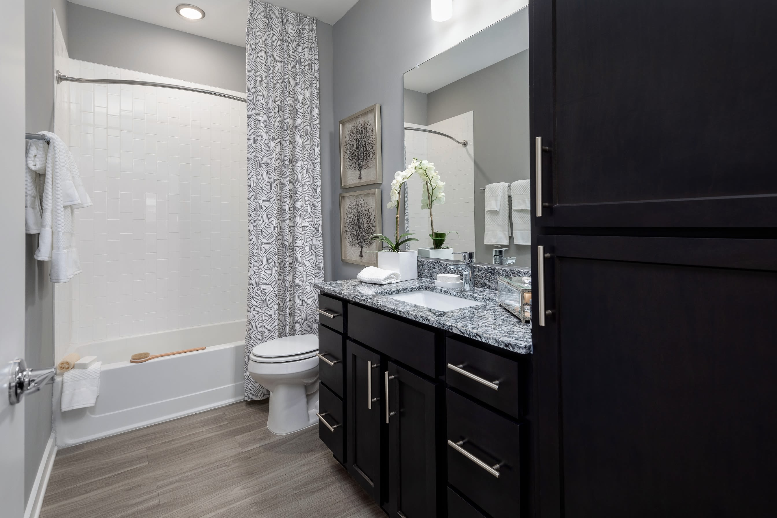 Large guest bathroom at Elevate at Brighton Park in Summerville, South Carolina