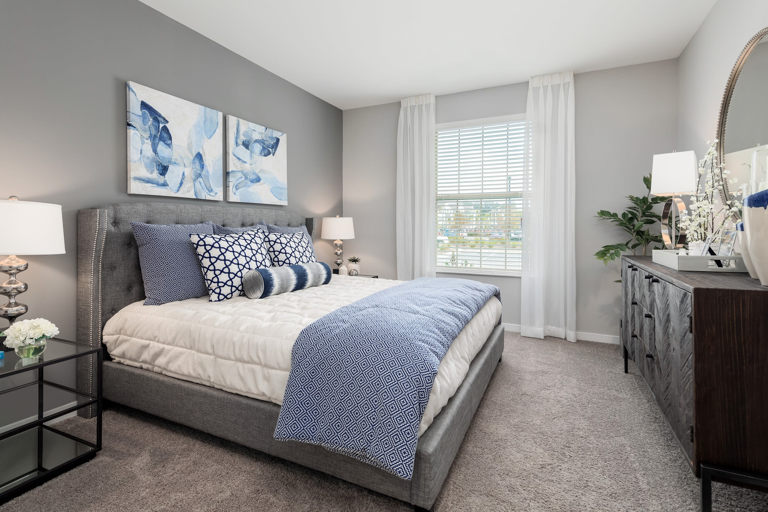Well lit main bedroom at Elevate at Brighton Park in Summerville, South Carolina