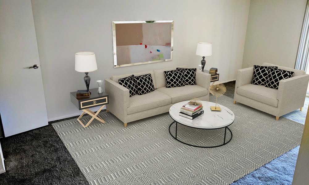 Beautiful Living Room at Curren Terrace in Norristown, Pennsylvania