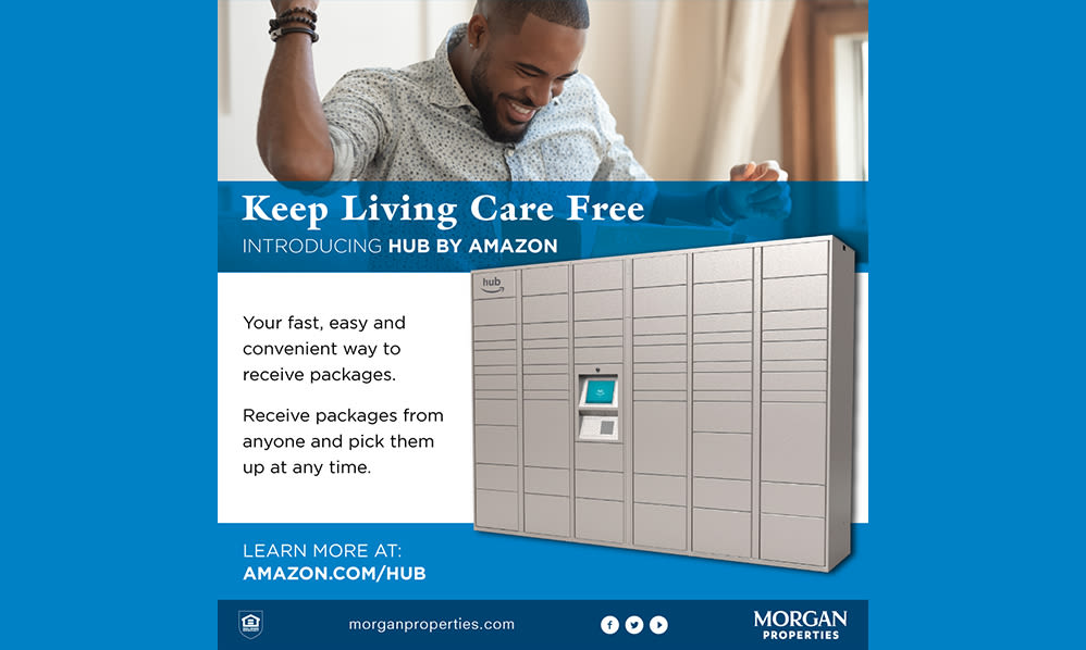 Our Apartments in Maple Shade, New Jersey have Amazon Package Lockers