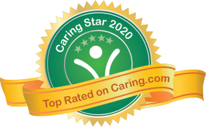 Top Rated on caring.com logo