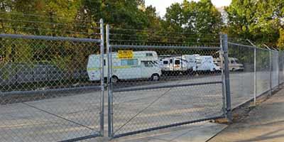 Outdoor RV storage at Mini Storage Depot in Maryville, Tennessee