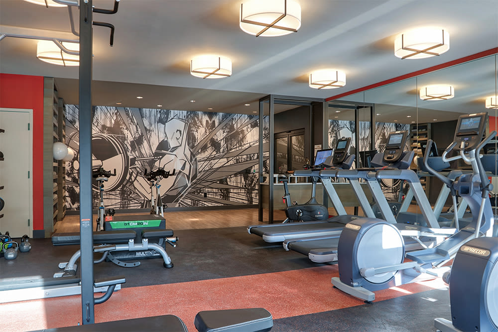 Modern fitness center at 933 the U in Rochester, New York