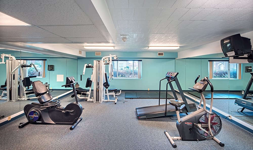 Stay healthy in our fitness center at The Avalon Apartment Homes in Avalon, Pennsylvania