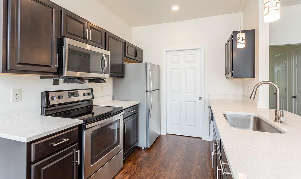 Modern kitchen at Avon Commons in Avon, New York