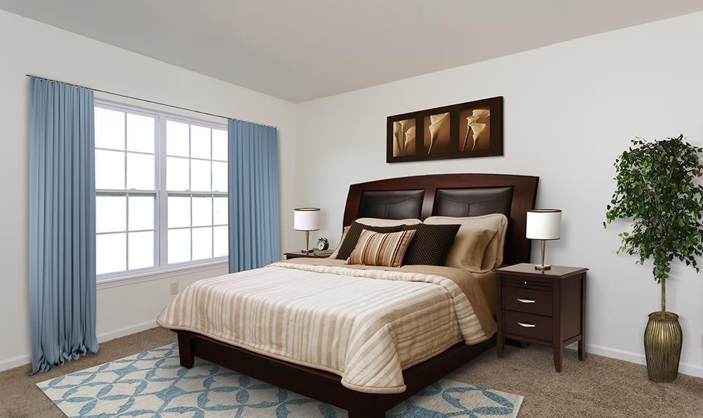Master bedroom at Avon Commons in Avon, New York