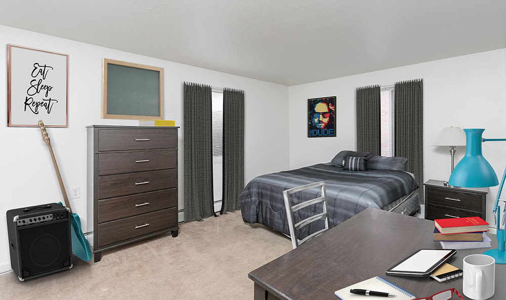Spacious bedroom at Brockport Crossings Apartments & Townhomes in Brockport, New York