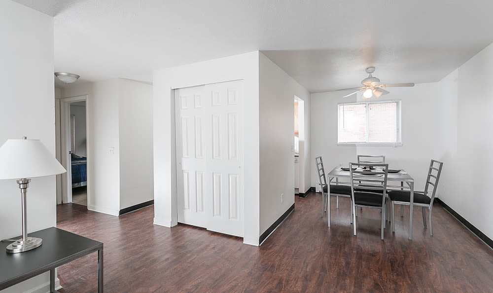 Spacious dining area at Brockport Crossings Apartments & Townhomes in Brockport, New York