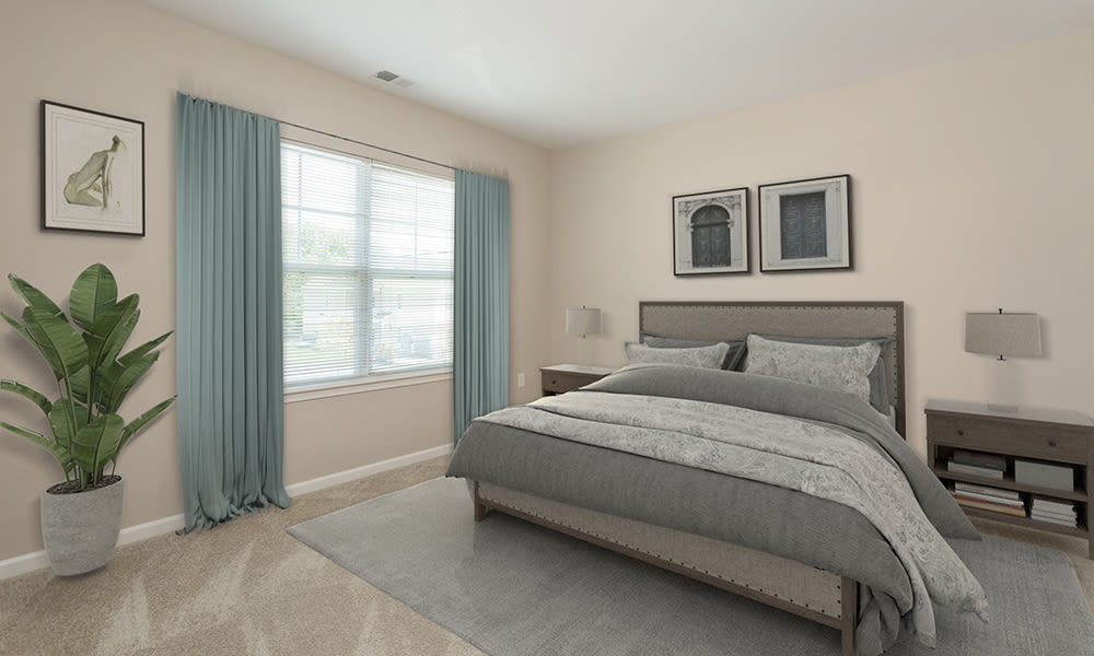 Cozy bedroom at Canal Crossing in Camillus, New York