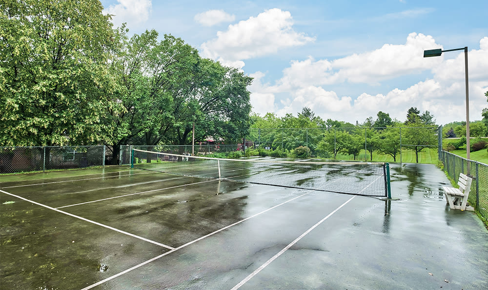Tennis courts at Club at North Hills in Pittsburgh, Pennsylvania