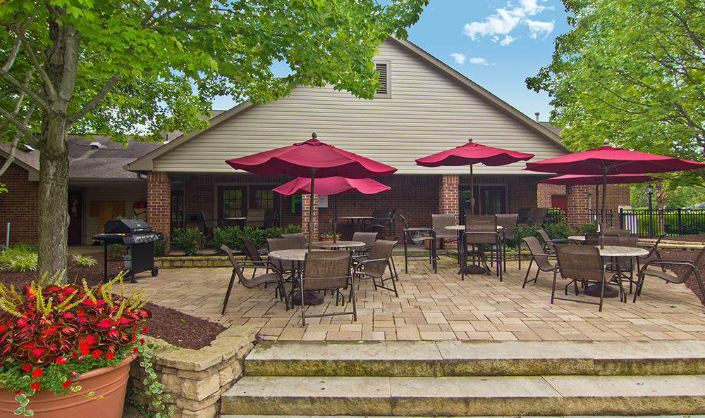 Outdoor patio area at Club at North Hills in Pittsburgh, Pennsylvania