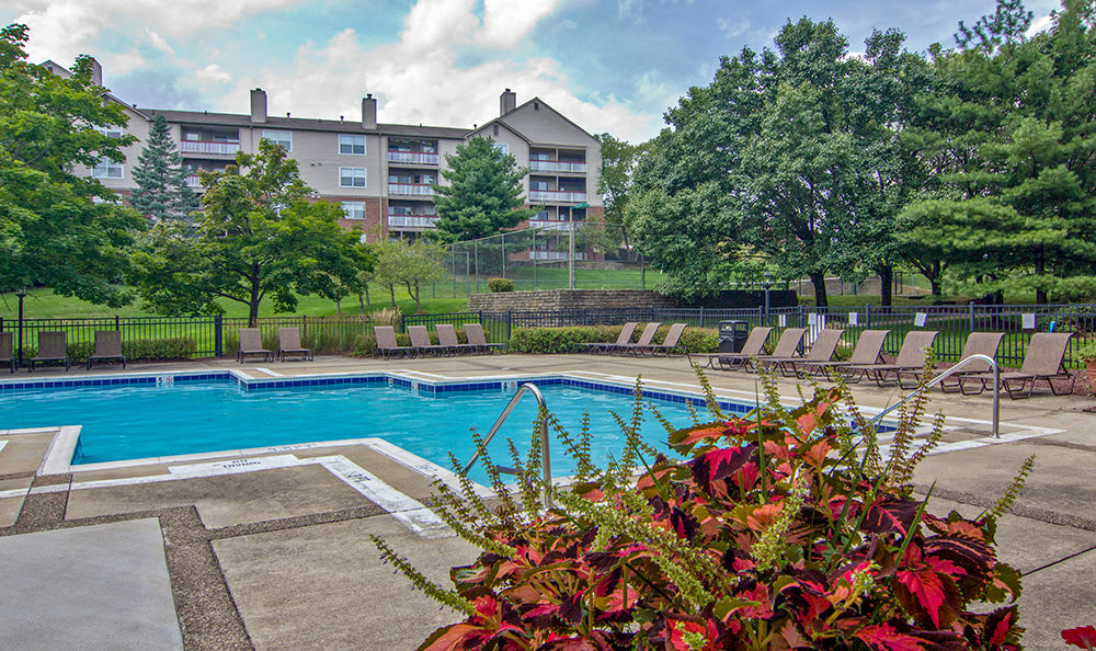 Sparkling swimming pool at Club at North Hills in Pittsburgh, Pennsylvania