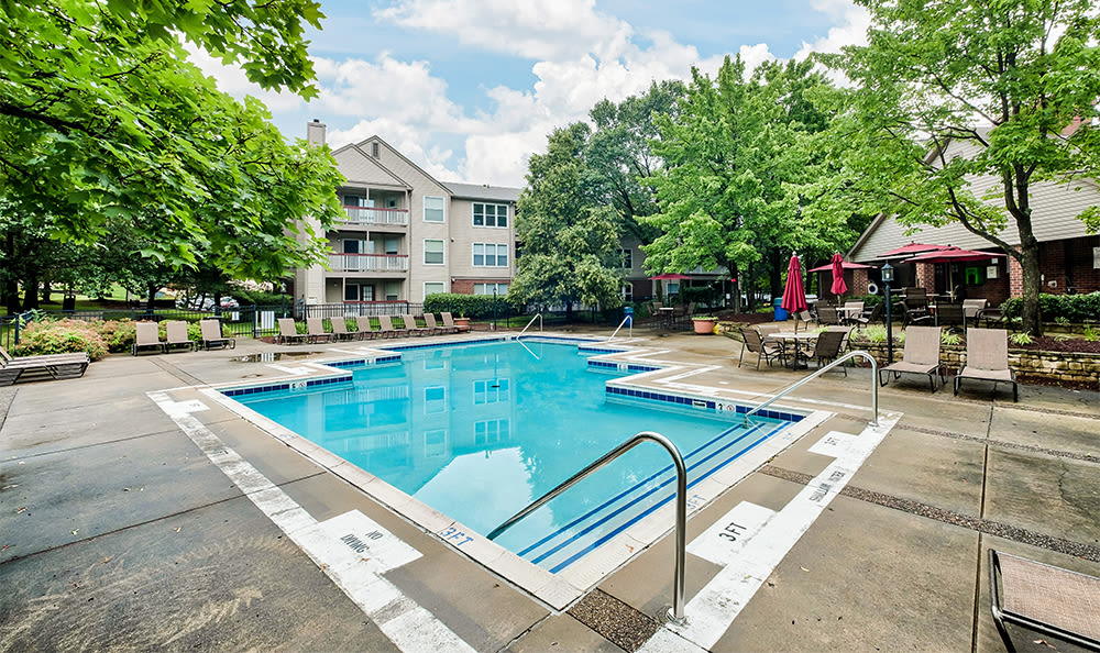 Resort-style swimming pool at Club at North Hills in Pittsburgh, Pennsylvania