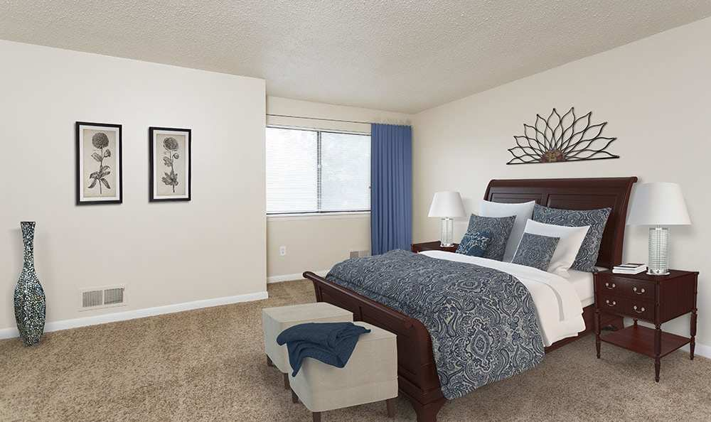 Bedroom at Crossroads Apartments in Spencerport, New York