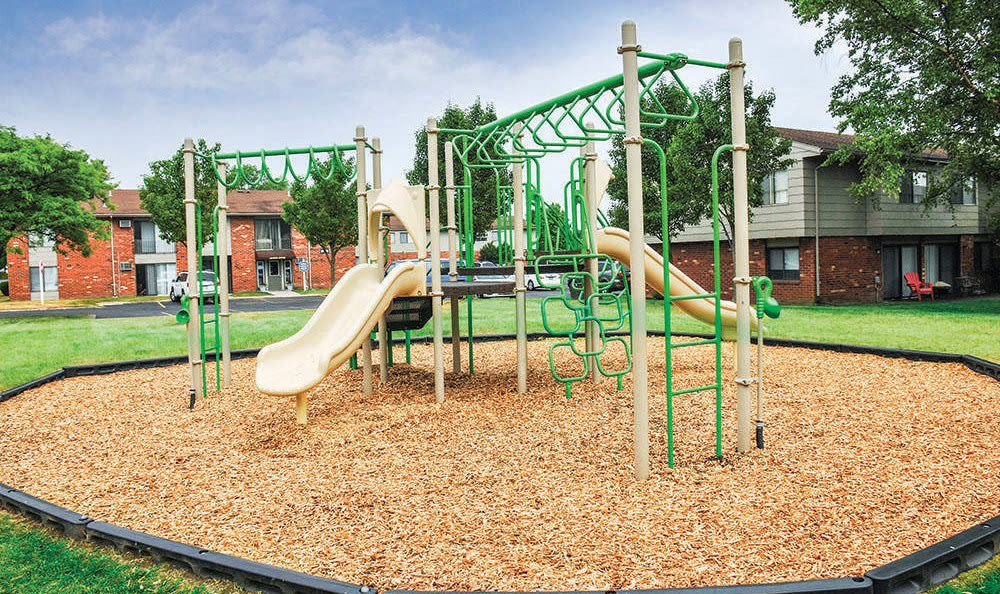 Playground at Crossroads Apartments in Spencerport, New York