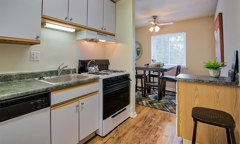 Kitchen at Eagle's Crest Apartments in Harrisburg, Pennsylvania