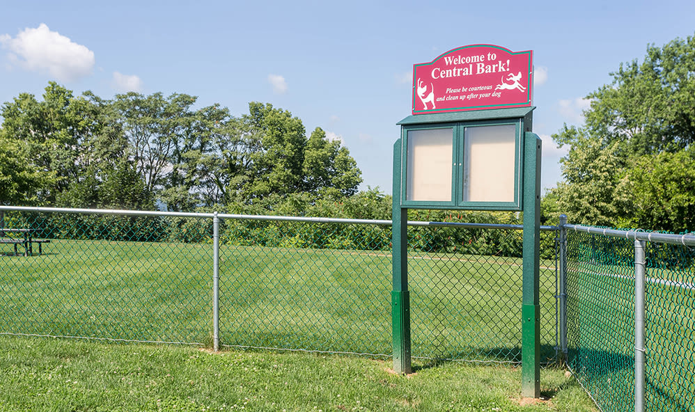 Dog park at Emerald Pointe Townhomes in Harrisburg, Pennsylvania