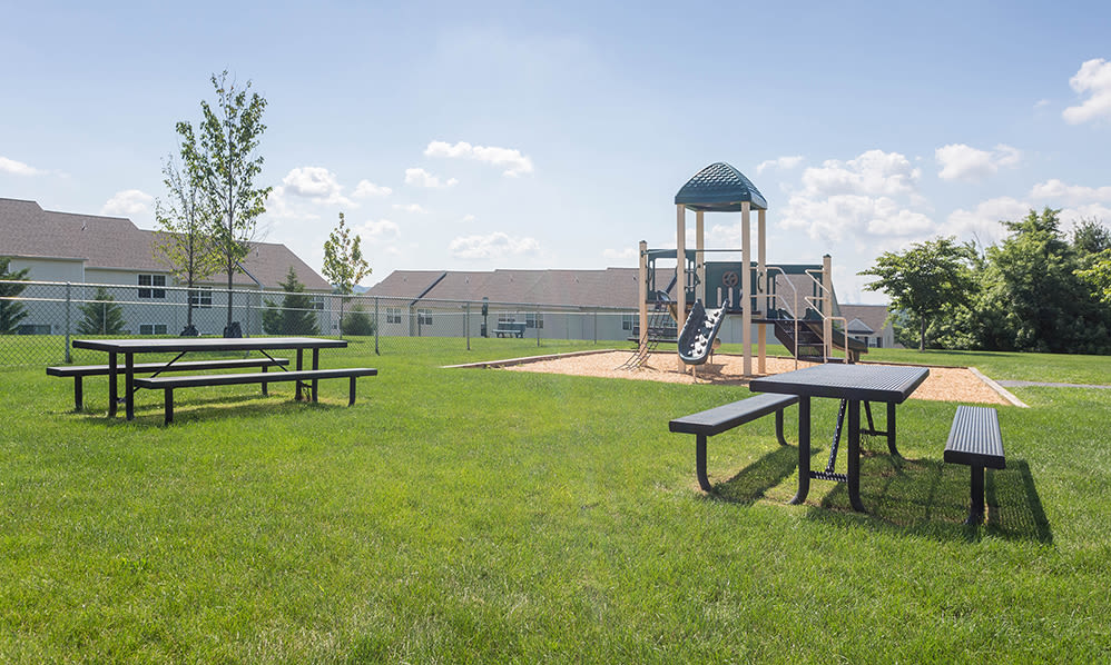 Onsite playground at Emerald Pointe Townhomes in Harrisburg, Pennsylvania