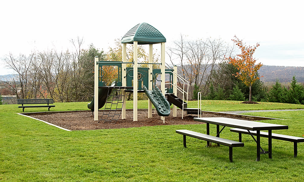 Children's play area at Emerald Pointe Townhomes in Harrisburg, Pennsylvania