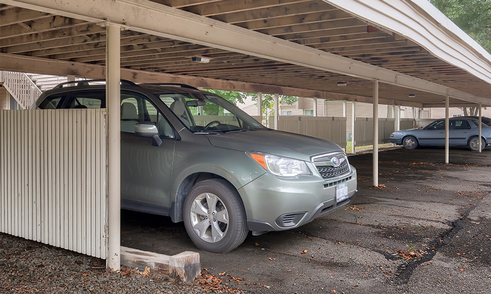 Covered parking at Emerald Springs Apartments in Painted Post, New York