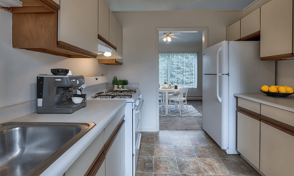 Kitchen at Emerald Springs Apartments in Painted Post, New York